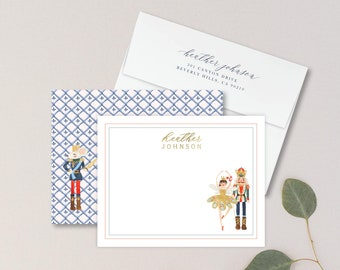Nutcracker Flat Floral Personalized Note Card Personalized Stationery Set Stationery Note Card Set