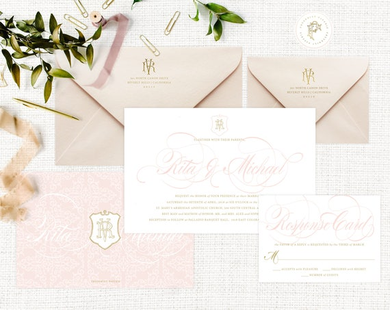 Classic Wedding Invitation | Wedding invitation | Calligraphy Wedding Invitation | Calligraphy invitation | Fancy Wedding invitation | 105