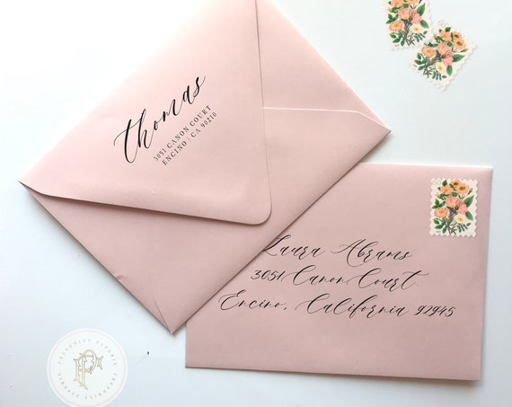 Return + Guest addressing on envelopes - freshmint paperie