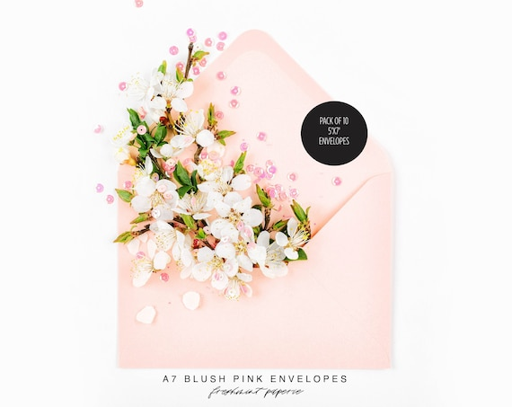 PINK envelopes, add on to any print order - Freshmint paperie