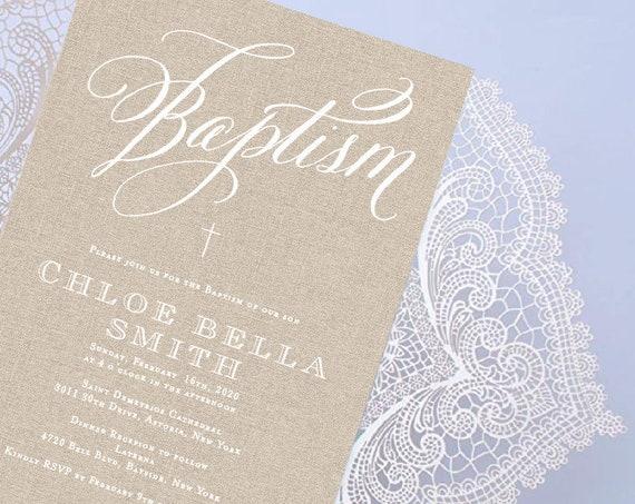 Baptism invitation, Christening invitation, Dedication invitation, Laser cut invitation, Gate fold invitation, Lace Doily Invitation