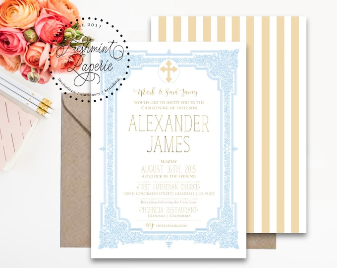 Baptism invitations - baptism invitation - christening Invitation - cross invitation - religious invitation -  baptism - cross invite - 106