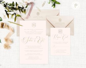Classic Wedding Invitation | Wedding invitation | Blush Wedding Invitation | Calligraphy invitation | Calligraphy Wedding invitation | 101