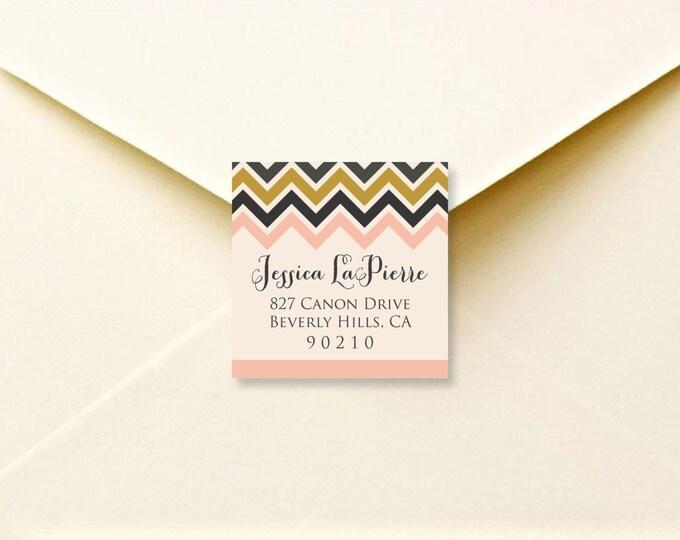 Chevron return address labels - printable address labels - return address stickers - personalized stickers - return stickers - envelope seal