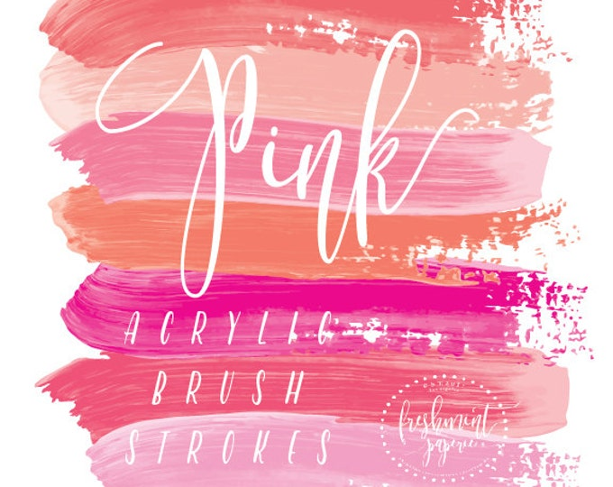 acrylic brush strokes clipart - gold brush clipart - paint clipart - ink strokes clipart - watercolor clipart - freshmint paperie