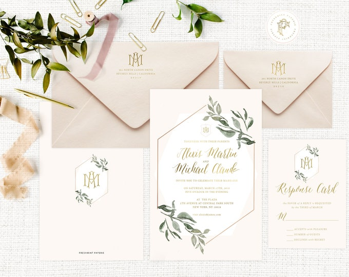 Classic Wedding Invitation | Wedding invitation | Calligraphy Wedding Invitation | Calligraphy invitation | Fancy Wedding invitation | 106