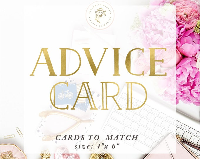 Matching ADVICE CARD - Freshmint Paperie