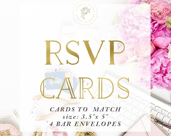 RSVP - Response Card - add on - freshmint paperie