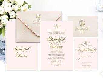 Classic Wedding Invitation | Wedding invitation | Calligraphy Wedding Invitation | Calligraphy invitation | Fancy Wedding invitation | 104