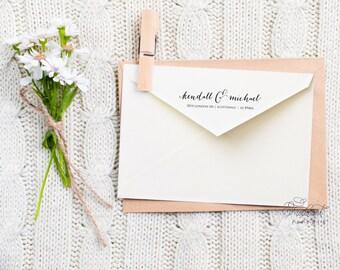 Calligraphy return address labels - printable return address labels - calligraphy  - custom envelope labels