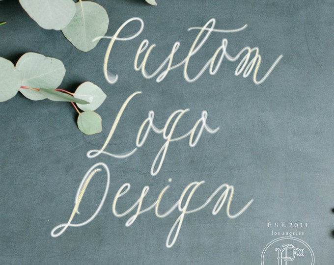 Custom logo design - calligraphy text logo - business logo - business card - business branding - logos - freshmint paperie