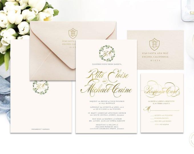 Classic Wedding Invitation | Wedding invitation | Calligraphy Wedding Invitation | Calligraphy invitation | Fancy Wedding invitation | 112