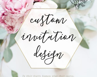 Custom Invitation Listing - freshmint paperie