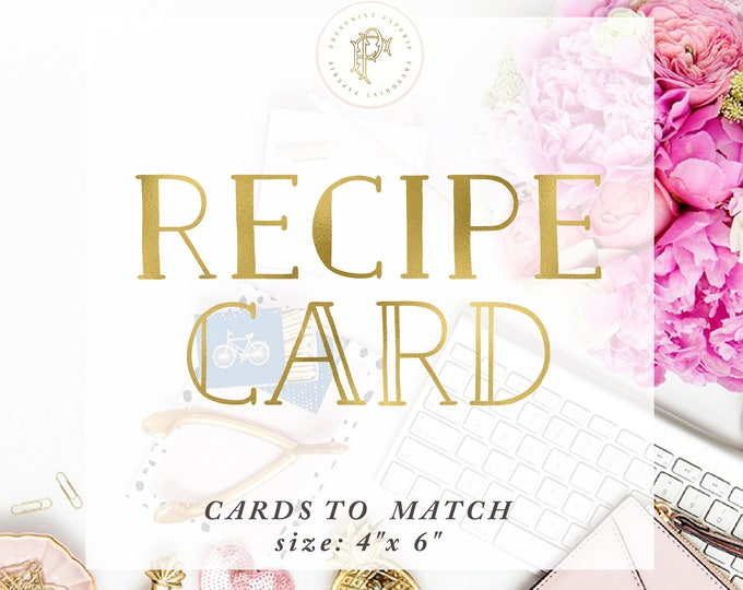 Matching RECIPE CARD - Freshmint Paperie