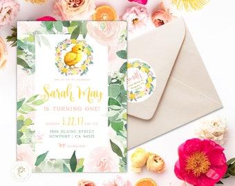 Chick invitation | Chick Birthday Invitation | Birthday invitation |  Succulent Invitation | Easter Invite | Baby Chick theme