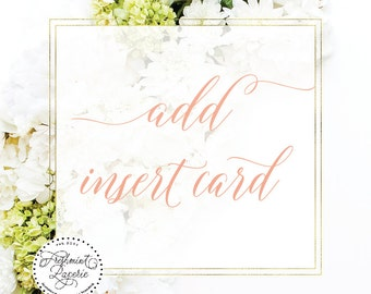 ADD insert card to any Freshmint paperie invitation design - freshmint paperie