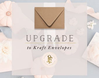 professional printing services - Upgrade to KRAFT ENVELOPES - freshmint paperie