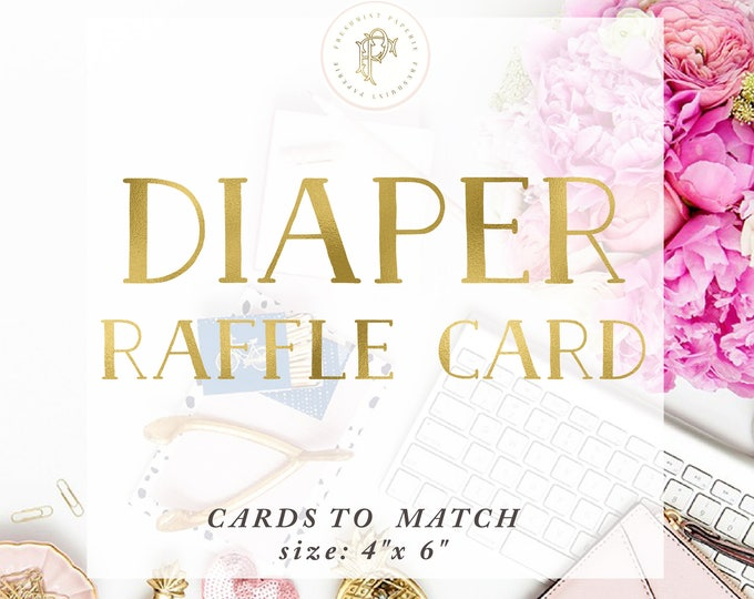 Add on Diaper Raffle Card - Freshmint Paperie