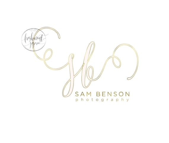 Custom logo -  photography logo  - calligraphy logo - business logo - business card - freshmint paperie
