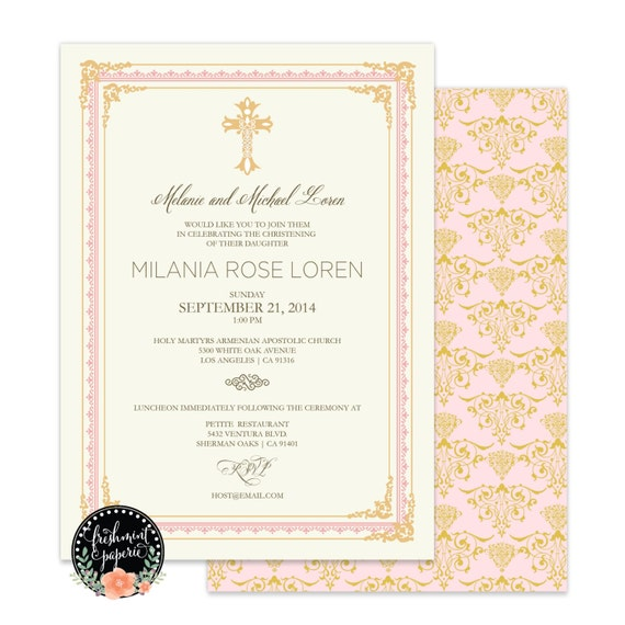 Baptism invitations - baptism invitation - christening Invitation - cross invitation - religious invitation -  baptism - cross invite - 125