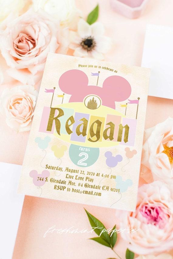 Vintage Mickey Mouse invitation - Minnie Mouse Birthday - Classic Mickey - Minnie invitation - Mickey Printable invitation