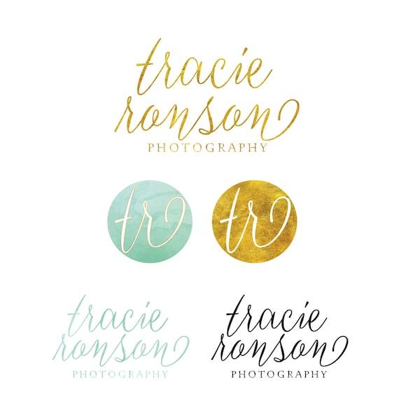 Custom logo -  logo design  - calligraphy logo - business logo - business card - freshmint paperie