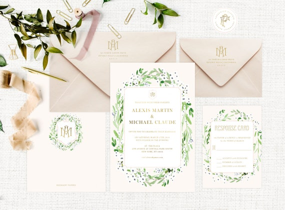 Classic Wedding Invitation | Wedding invitation | Calligraphy Wedding Invitation | Calligraphy invitation | Fancy Wedding invitation | 110