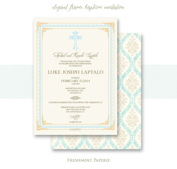 Baptism invitations - baptism invitation - christening Invitation - cross invitation - religious invitation -  baptism - cross invite - 104