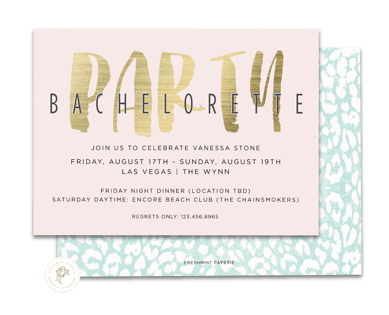 Bachelorette Invite - Bridal Shower Invitation - Bachelorette ...
