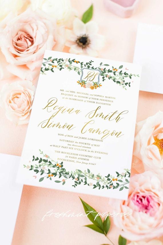 Classic Wedding Invitation | Wedding invitation | Calligraphy Wedding Invitation | Calligraphy invitation | Elegant Wedding invitation