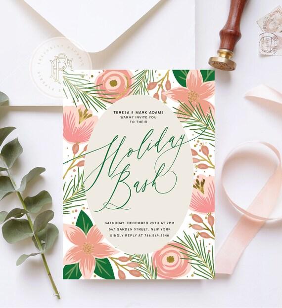 Holiday Bash invitation | Holiday Party invitation | Christmas Party invitation | New Years invitation | Holiday invitation