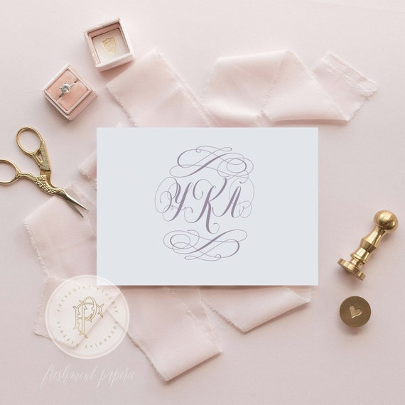 Wedding monogram - wedding logo - monogram - modern calligraphy logo - name monogram - freshmint paperie
