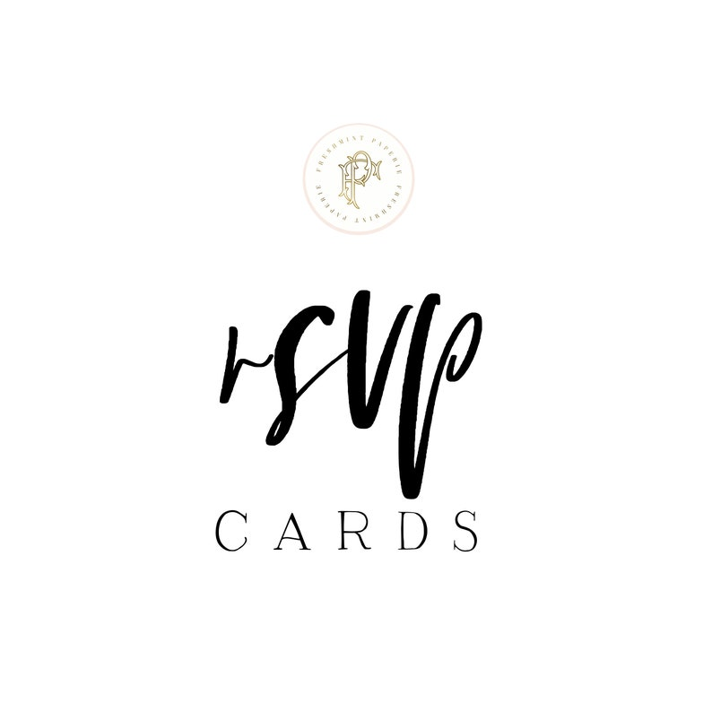 RSVP  Response Card  add on  freshmint paperie image 0