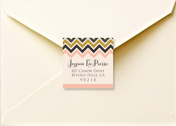 Chevron return address labels - printable address labels - return address stickers - personalized stickers - return stickers - envelope seal