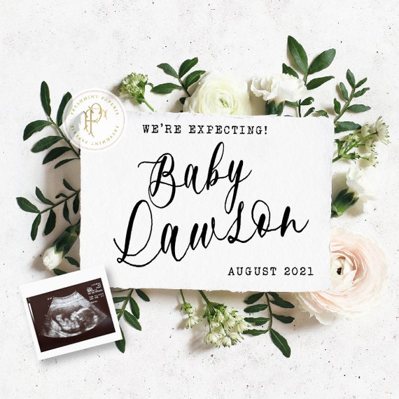 Pregnancy Announcement for Social Media, Baby Announcement for Social Media, Personalized Letter Board Pregnancy Announcement