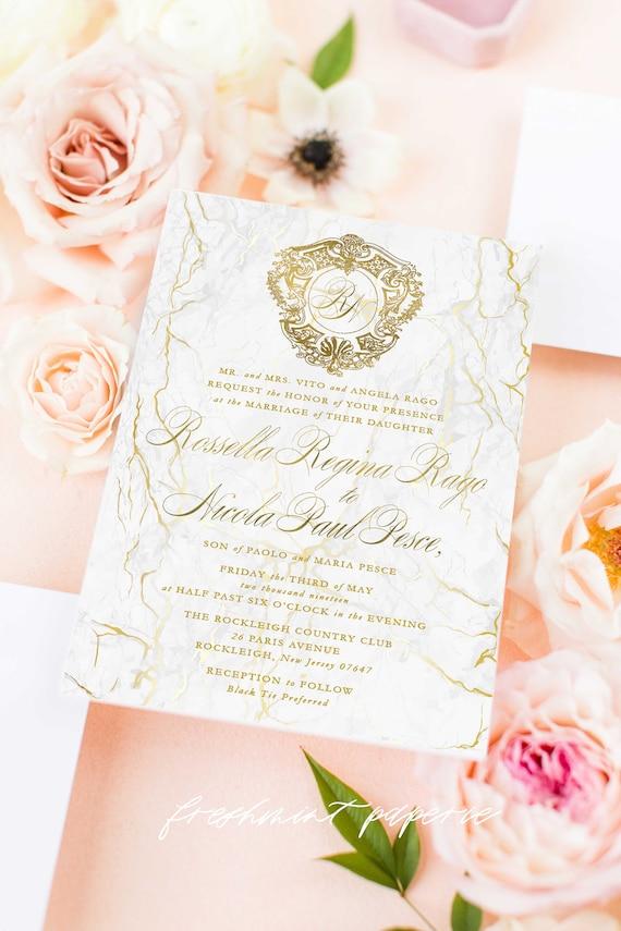 Classic Wedding Invitation | Wedding invitation | Calligraphy Wedding Invitation | Marble invitation | Elegant Wedding invitation