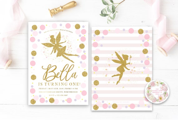 Fairy invitation | Enchanted Fairy invitation | Fairy confetti invite | girls invitation | Fairy invite | Fairy Birthday party