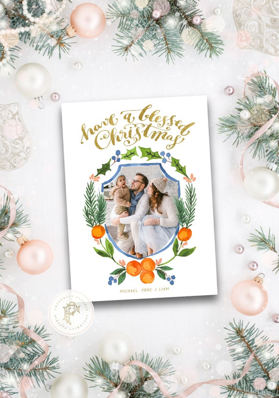 Printable Holiday Cards, Christmas card, Photo Christmas cards, Photo holiday cards, Pretty Holiday Cards, Orange grove