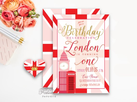 London invitations - London invitation - big ben - calligraphy - england invitation  - freshmint paperie