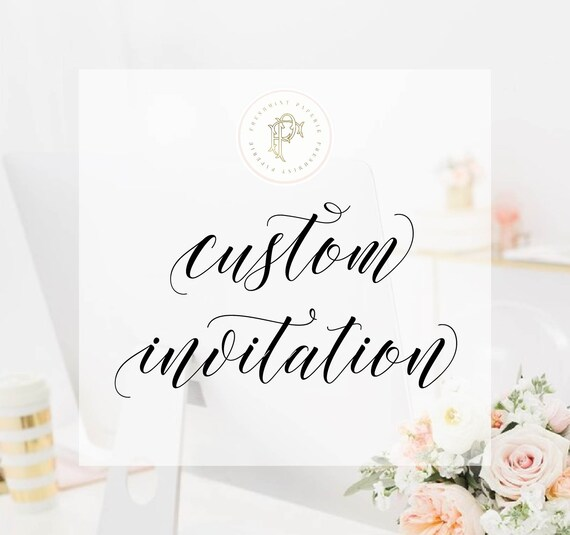 Custom Invitation Design - Freshmint Paperie