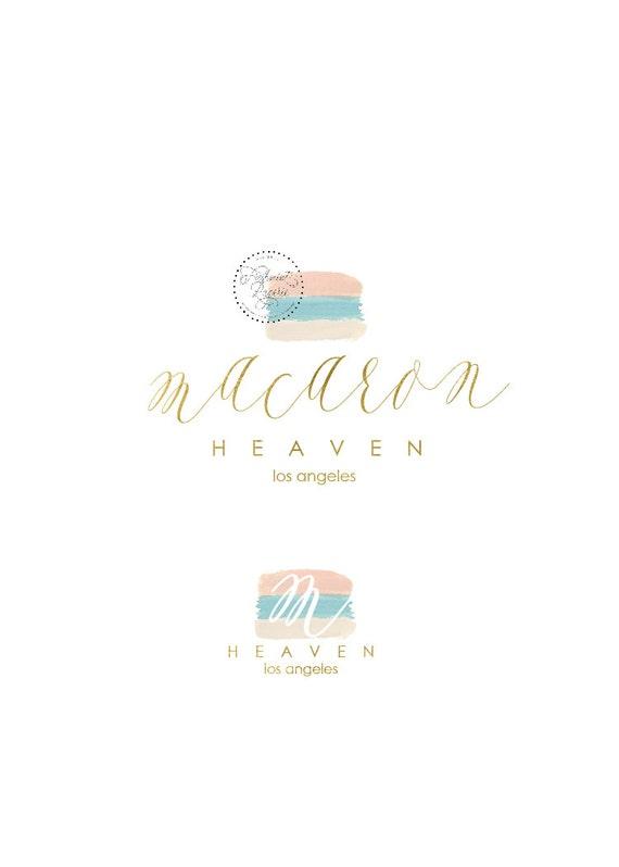 Custom pre-made logo - logo design - calligraphy logo - logo - macaron logo - gold foil logo - watercolor logo - freshmint paperie