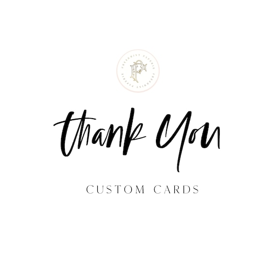 THANK YOU CARDS - Note cards - digital or printed -  freshmint paperie