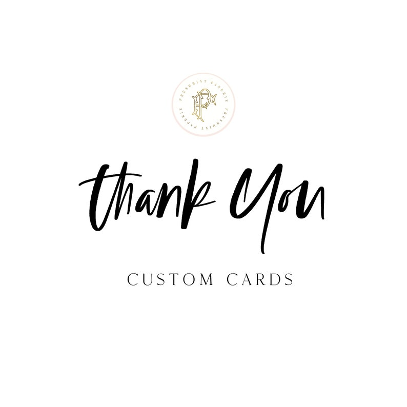 THANK YOU CARDS  Note cards  digital or printed   freshmint image 0
