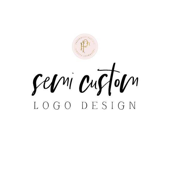 Semi Custom logo design by Freshmint Paperie
