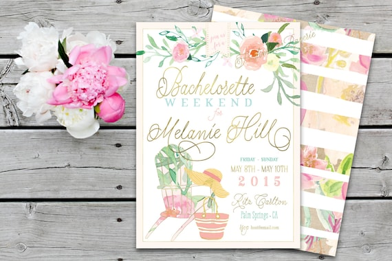 Printable invitations - bridal shower invitation - bachelorette invitation - calligraphy - floral calligraphy invitation - freshmint paperie