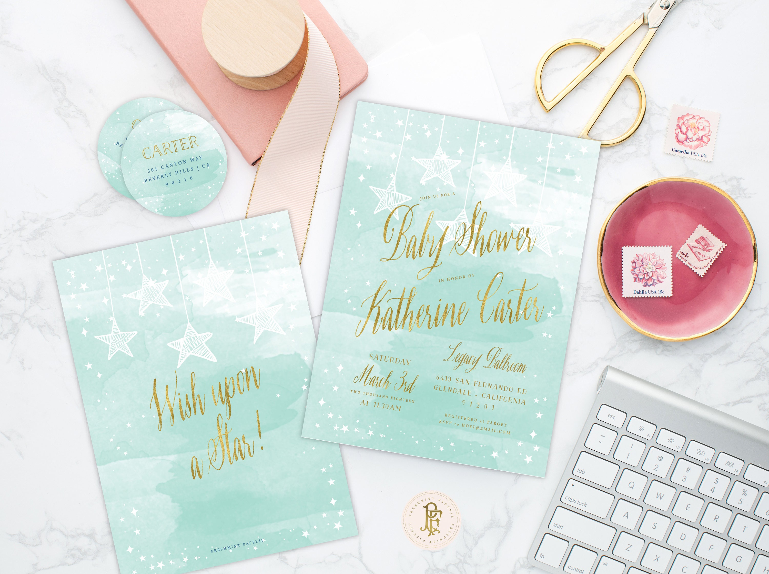 wish upon a star invitation star is born invitation mint baby