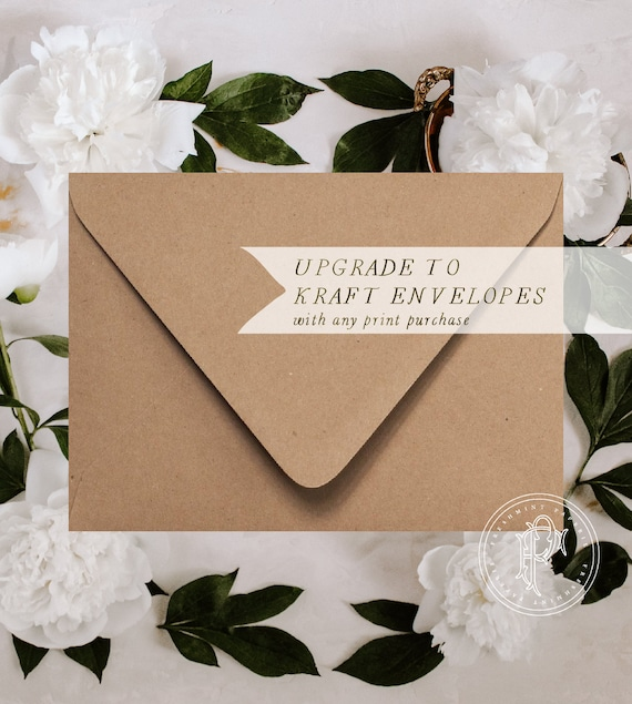 Kraft envelopes - Professional printing service - Upgrade to KRAFT ENVELOPES - freshmint paperie