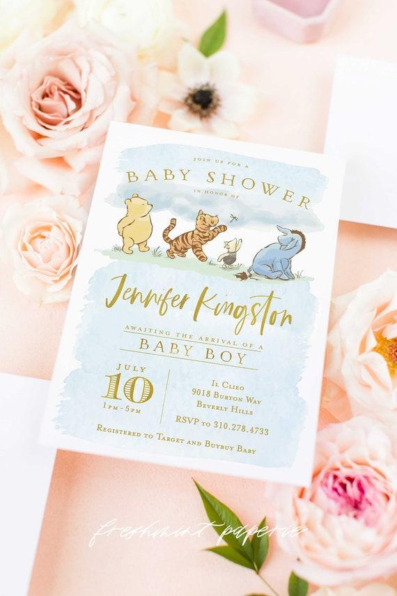 Pooh invitation Winnie the Pooh Classic Winnie the Pooh baby shower invitation Vintage Winnie the Pooh Invitation Winnie the Pooh Invite