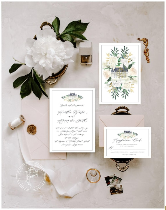 Classic Wedding Invitation | Wedding invitation | Calligraphy Wedding Invitation | Farmhouse invitation | Elegant Wedding invitation