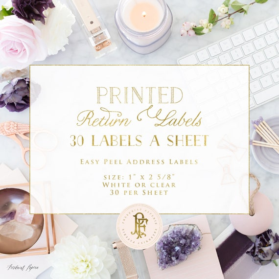 Printing Services - AVERY TEMPLATE 5160 / 8163  - freshmint paperie